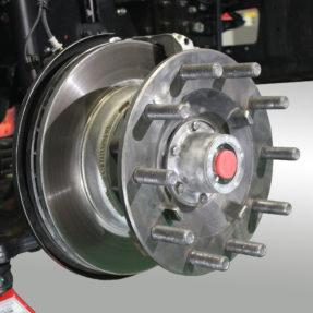 truck brakes close up