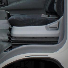 interior of truck seat