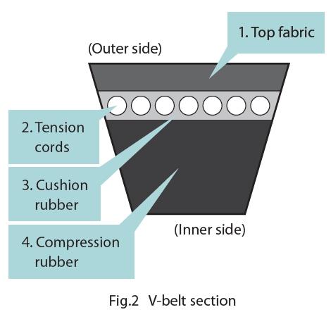 graphic of v belt section