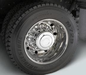 rear wheel of truck