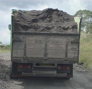 back of dump truck