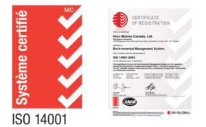 Systéme certifié ISO 14001